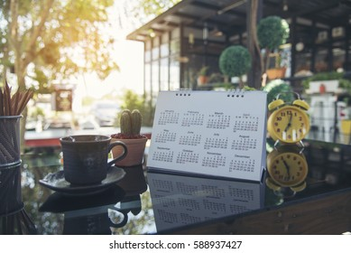 Calendar 2018 Wall Background. Timetable planning for all new year on 2018. Element for design with copy space.