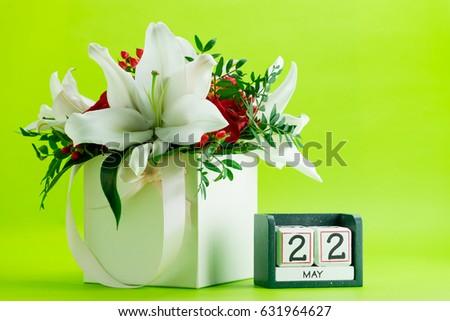 Calendar 22 May International Day Biological Stock Photo