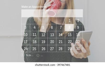 Calendar Agenda Appointment Schedule Concept