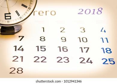calendar and alarm clock
