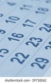 Calendar (blue toned)