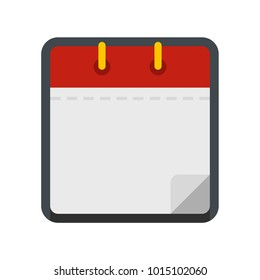 Calendar clean icon. Flat illustration of calendar clean  icon isolated on white background