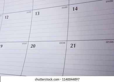 Calendar concept for time slipping away for important appointment date, schedule and deadline