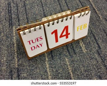 Calendar with the date of February