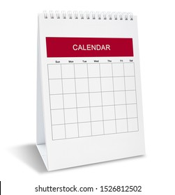 Calendar with day and date on isolate background for make date schedule appointment and organizing.