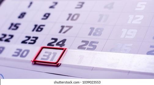 calendar days background