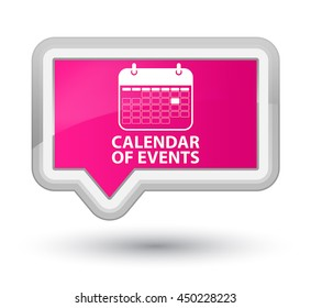 Calendar of events pink banner button