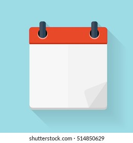 Calendar Flat Daily Icon Template.  Illustration Emblem. Element of Design for Decoration Office Documents and Applications. Logo of Day, Date, Time, Month and Holiday.