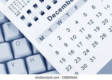 Calendar and Keyboard, December