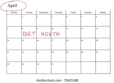 may month calendar marking start diet stock photo edit now