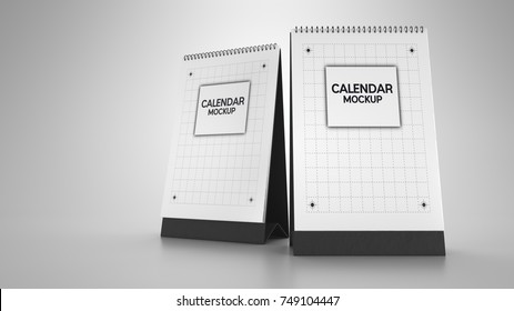 calendar mockup.3d rendering and illustration.