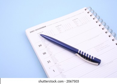 Calendar Pen November 2007 Isolated On Stock Photo Edit Now