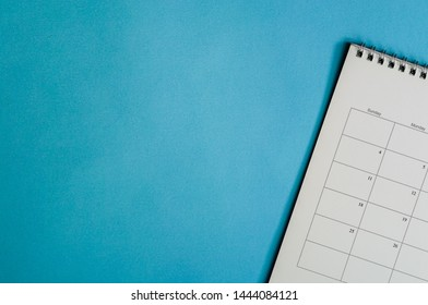 Calendar or planner on grunge or grey background with copy space. Business schedule concept.