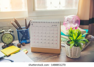 Calendar for Planner to plan timetable, meeting agenda, daily appointment, organization, management each date and year. Desktop Calender place on office desk. Calendar Background Concept