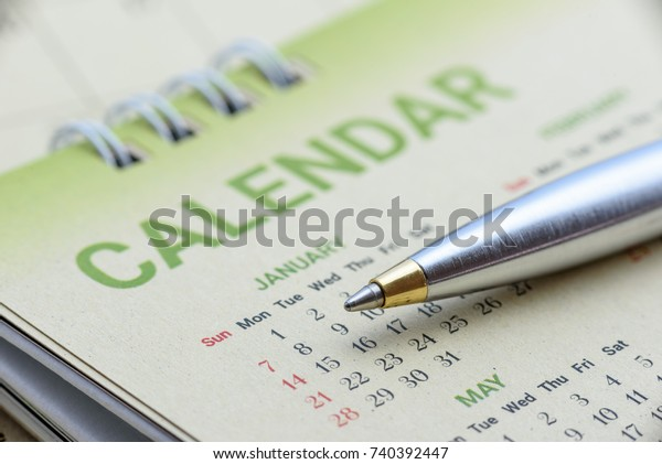 Calendar Planner Timetable Schedule Arrangement Concept Stock Photo