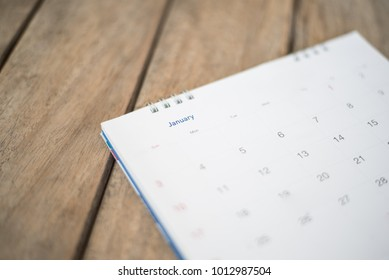 calendar in planning concept.