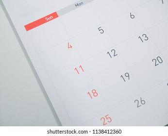 Calendar in planning concept.