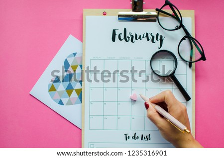 Calendar Red Mark On 14 February Stock Photo Edit Now 1235316901