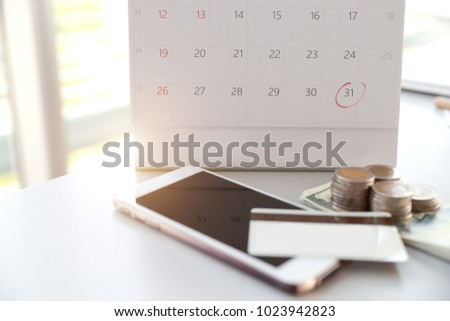 Calendar Red Mark On Date 31 Stock Photo (Edit Now) 1023942823