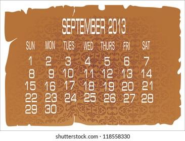 calendar September 2013