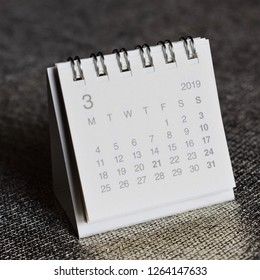 Calendar showing the page of March 2019