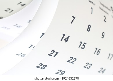 Calendars of various angles and colors