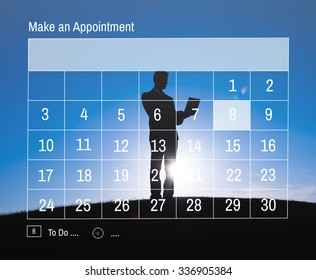 Calender Make Appointment Organization Management Concept