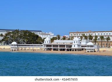Caleta famous beach , Cadiz , Spain