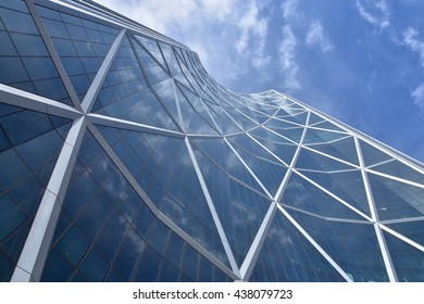 CALGARY, AB- MAY 29: The Bow Building  on May 29 2016 in Calgary, AB. Calgary has prominent buildings in a variety of styles by many famous architects.
