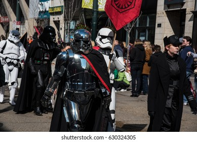 Calgary, Alberta, Canada - April 28 2017: Calgary Comic and Entertainment Expo Parade of Wonders