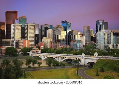 Calgary, Alberta, Canada cityscape, skyline
