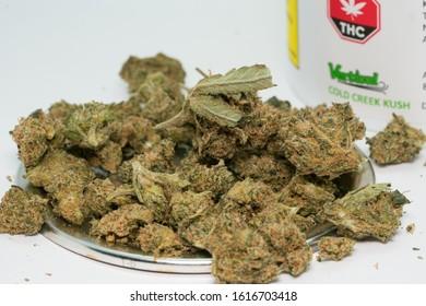 Calgary, Alberta / Canada - January 15 2019: Canadian Legal Cannabis