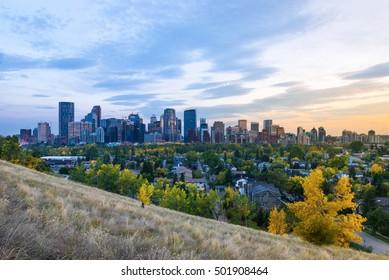 Calgary, Canada fall foliage