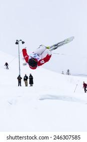 CALGARY CANADA JAN 3 2015. FIS Freestyle Ski World Cup, Winsport, Calgary Mr. Ikuma Horishima  from Japan at the Mogul Free Style World Cup on race day.