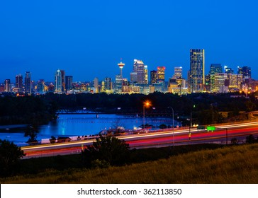 Calgary, Canada at night