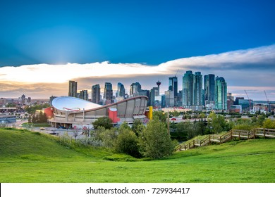 Calgary city landscape in summer, Canada