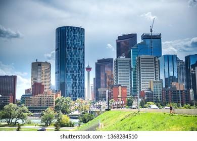 Calgary city skyline, Alberta, Canada