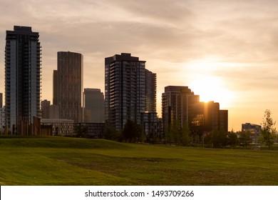 Calgary City. Sunset Downtown. Calgary