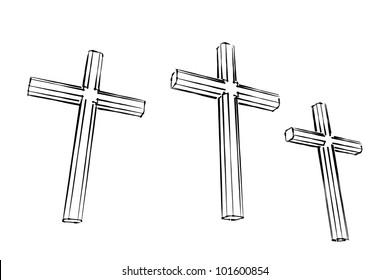 calgary crucifix illustration