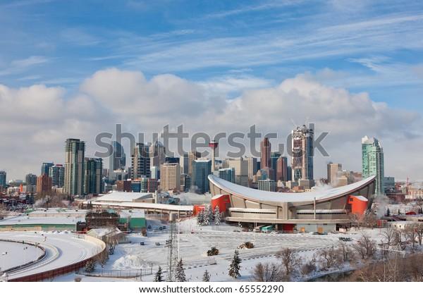 Calgary Downtown in Winter
