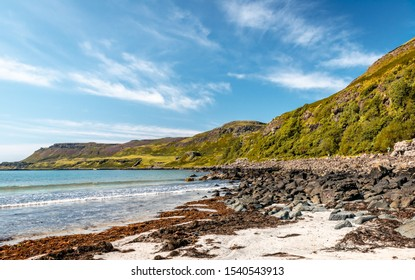 Calgary, Isle of Mull, Scotland, UK - View of the beach and the bay in the summertime.