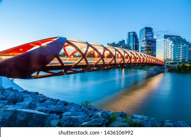 Calgary Peace Bridge at Sunrise