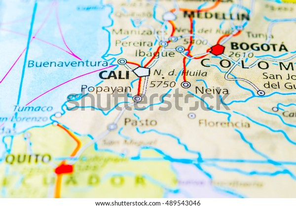 Cali Colombia Map View Stock Photo (Edit Now) 489543046 on