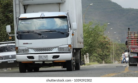 Cali / Colombia - November 2, 2017: Rural Road Traffic Colombia