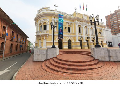CALI, COLOMBIA - OCTOBER 25, 2017: Santiago de Cali is one of the biggest cities and the most famous center of salsa. Cali, Valle de Cauca, Colombia, October 25, 2017