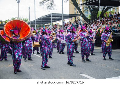Cali, Valle del Cauca, Colombia. May 24, 2013: Group of dancers at Cali fair.