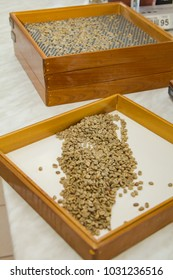 calibration of grain sieve green coffee