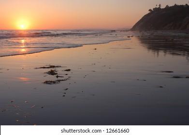 California Beach at Sunset