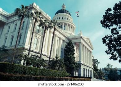 California capitol building, Sacramento, CA, USA - spring 2015
