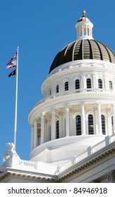 california capitol building in sacramento, Done and California State Flag